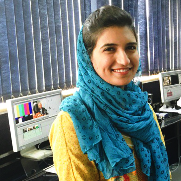 Farhat Javed  is a television and radio journalist with the Bbc in Islamabad. she has worked over a decade with mainstream news channels in Pakistan mentorship beat: broadcast journalism, newsroom safety
