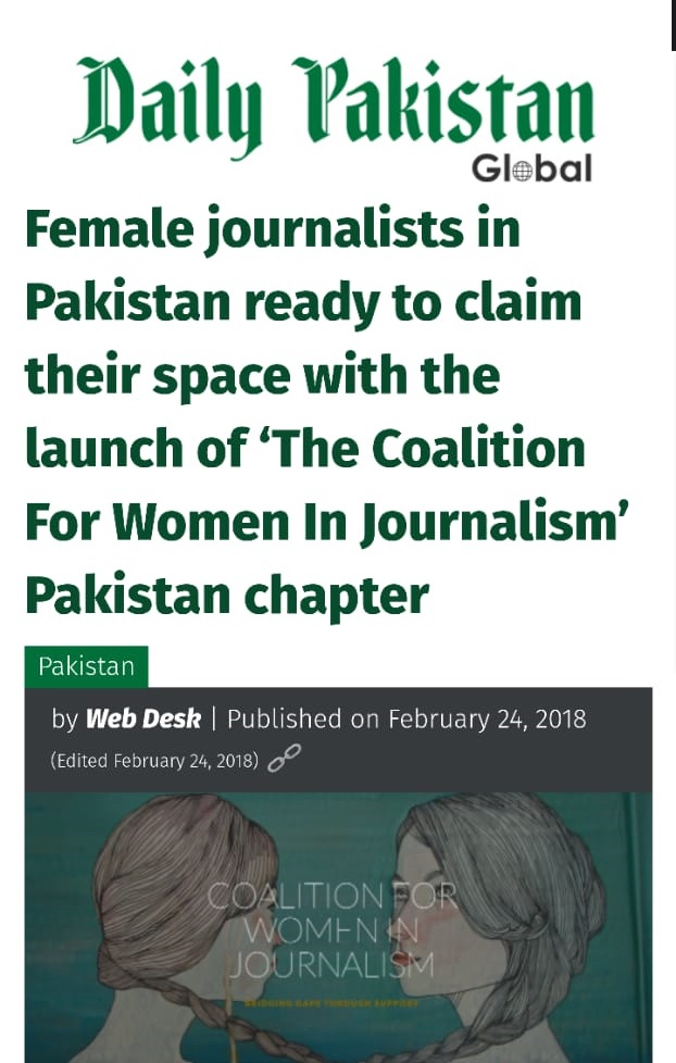THE COALITION LAUNCHES ITS PAKISTAN CHAPTER.