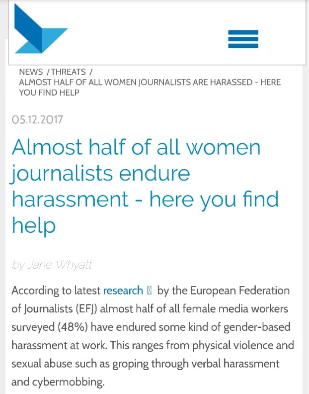 European Centre for Press and Media Freedom includes CFWIJ in a list of support resources for women journalists.