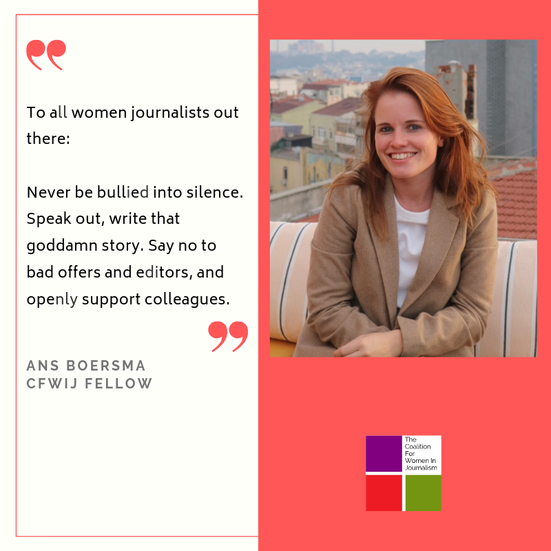 The concerns, challenges and risks of female reporters are oftentimes heard but rarely acted on. In a heavily male-dominated industry, I would like to see more spaces for female and nonbinary journalists (5).png