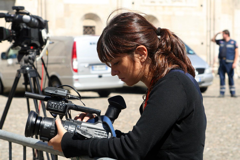 Woman journalist