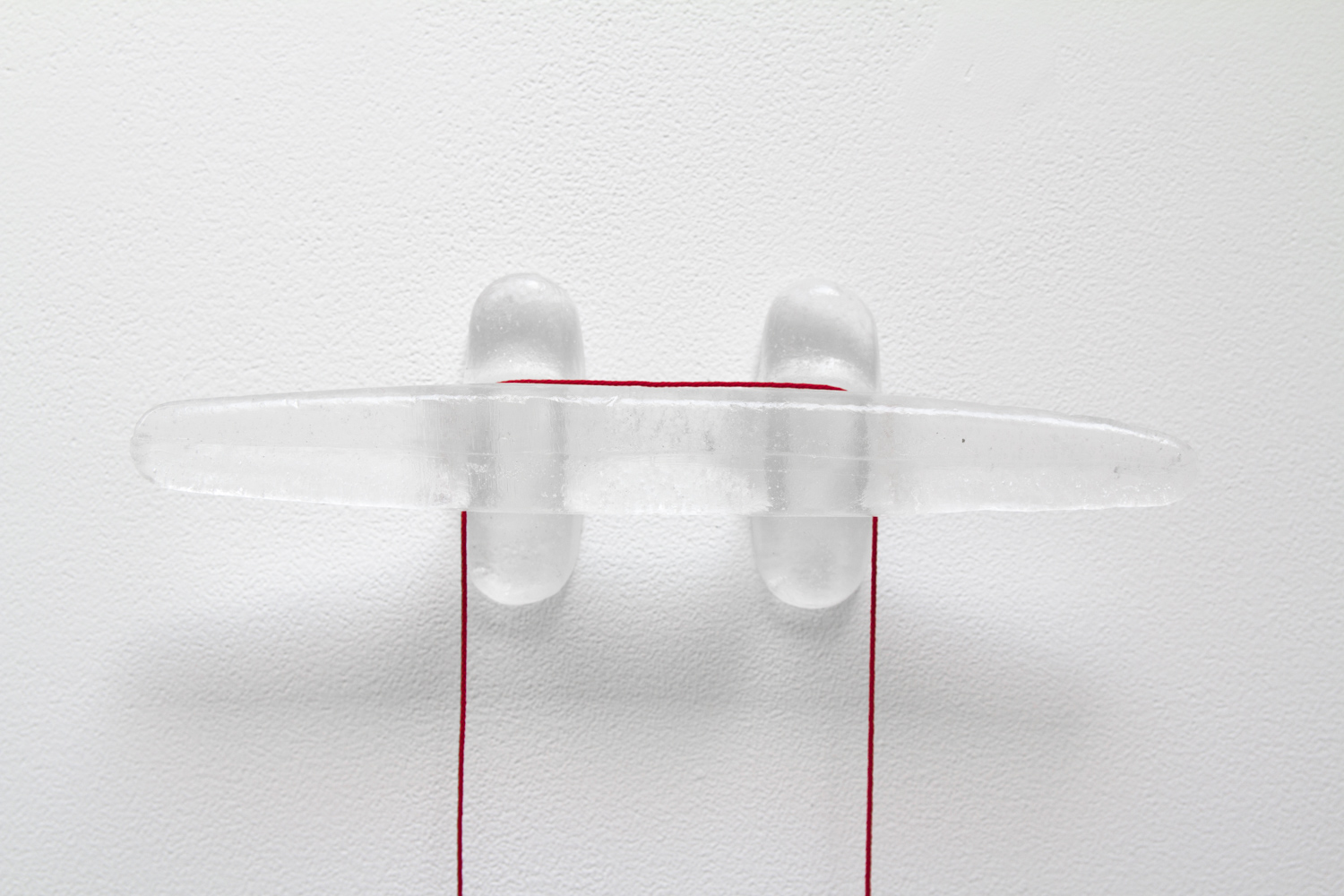 Reviewing Stress and Tension (detail) , 2016, dimensions variable, resin, string