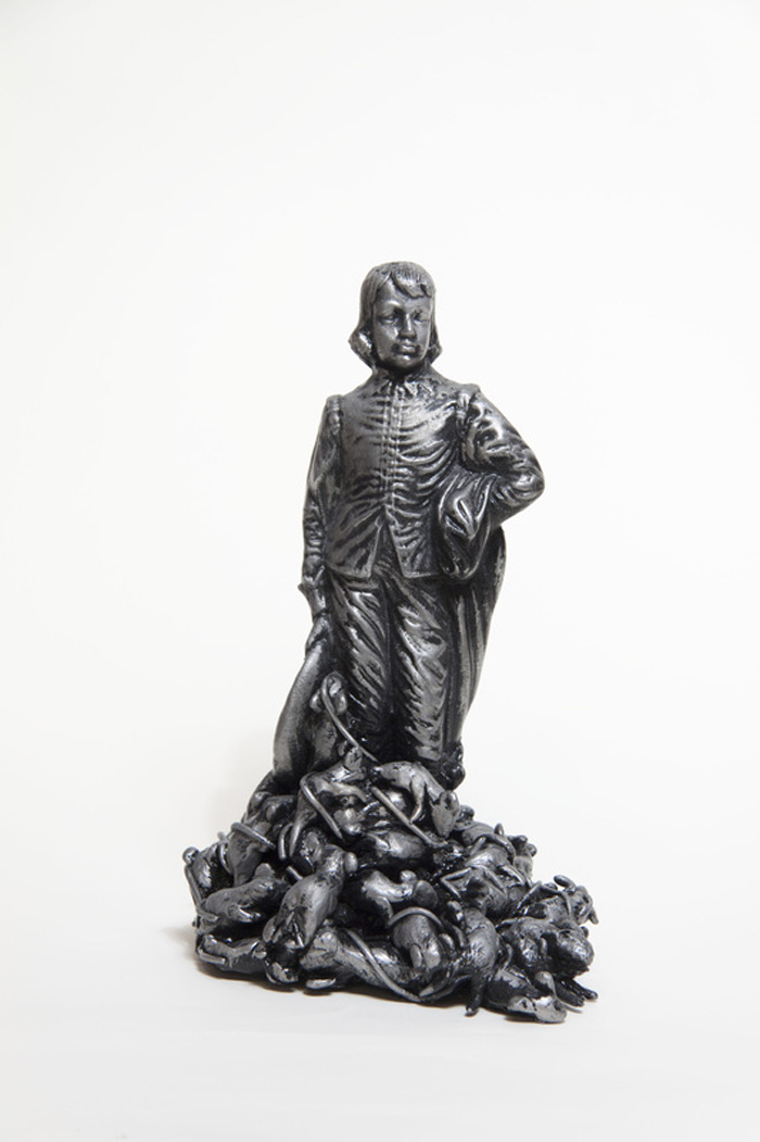 David Poolman,  Bounty,  2013, 9 x 7.5 x 12.75 inches, lost wax aluminium casting