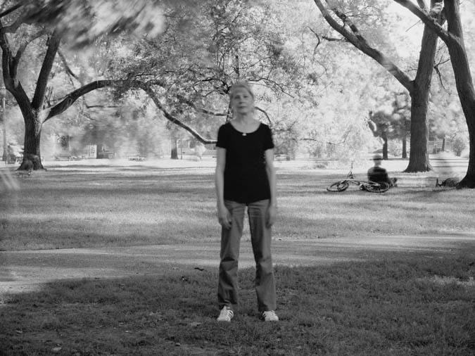Suzy Lake, Extended Breathing In The Park 1 , 2012/14, 41 x 56 inches framed, chromogenic print, edition of 2