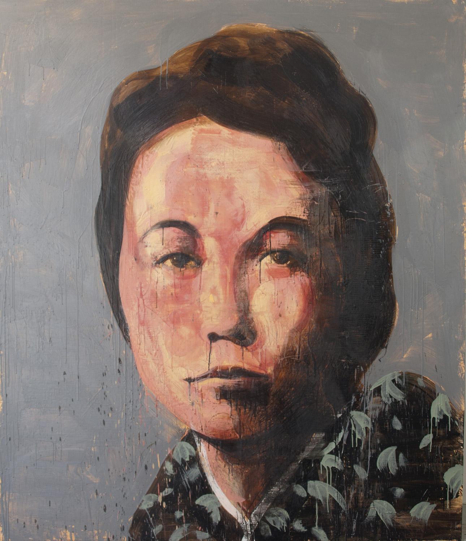 Cixi, 2012-14, encaustic on canvas, 84 x 72 inches