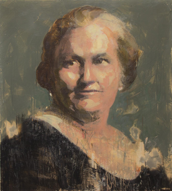 Maria Montesorri, 2013-14, encaustic on canvas, 60 x 54 inches