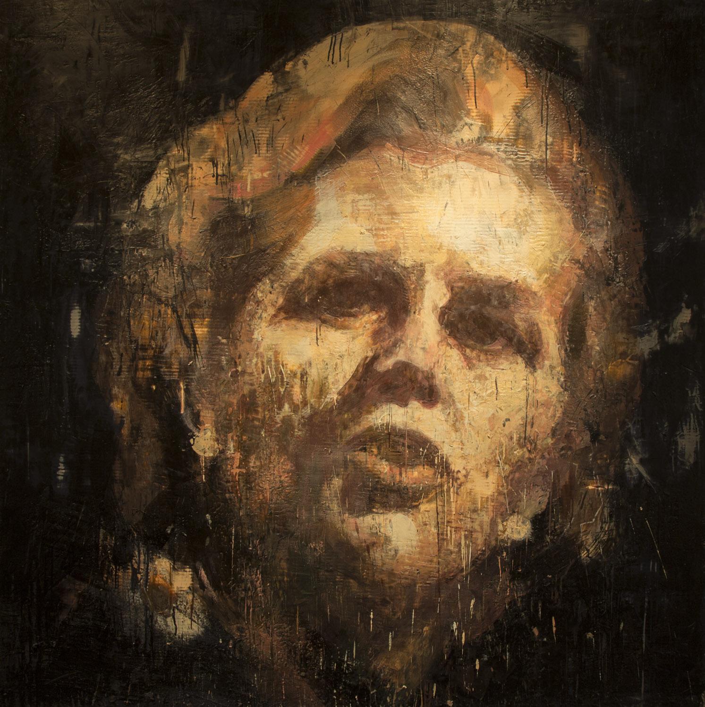Margaret Thatcher, 2012-14, encaustic on canvas, 72 x 72 inches