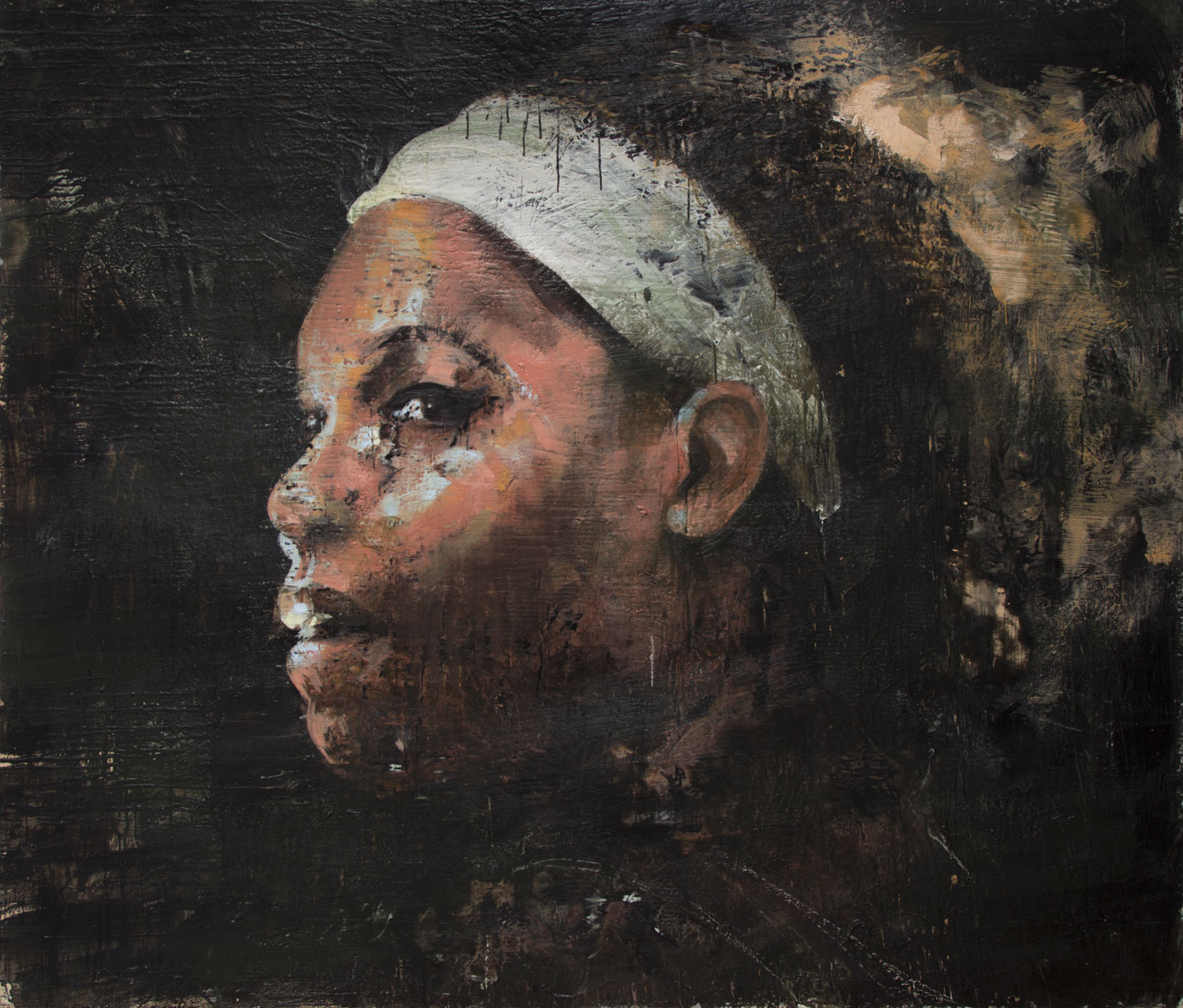 Serena Williams, 2012-14, encaustic on canvas, 72 x 84 inches