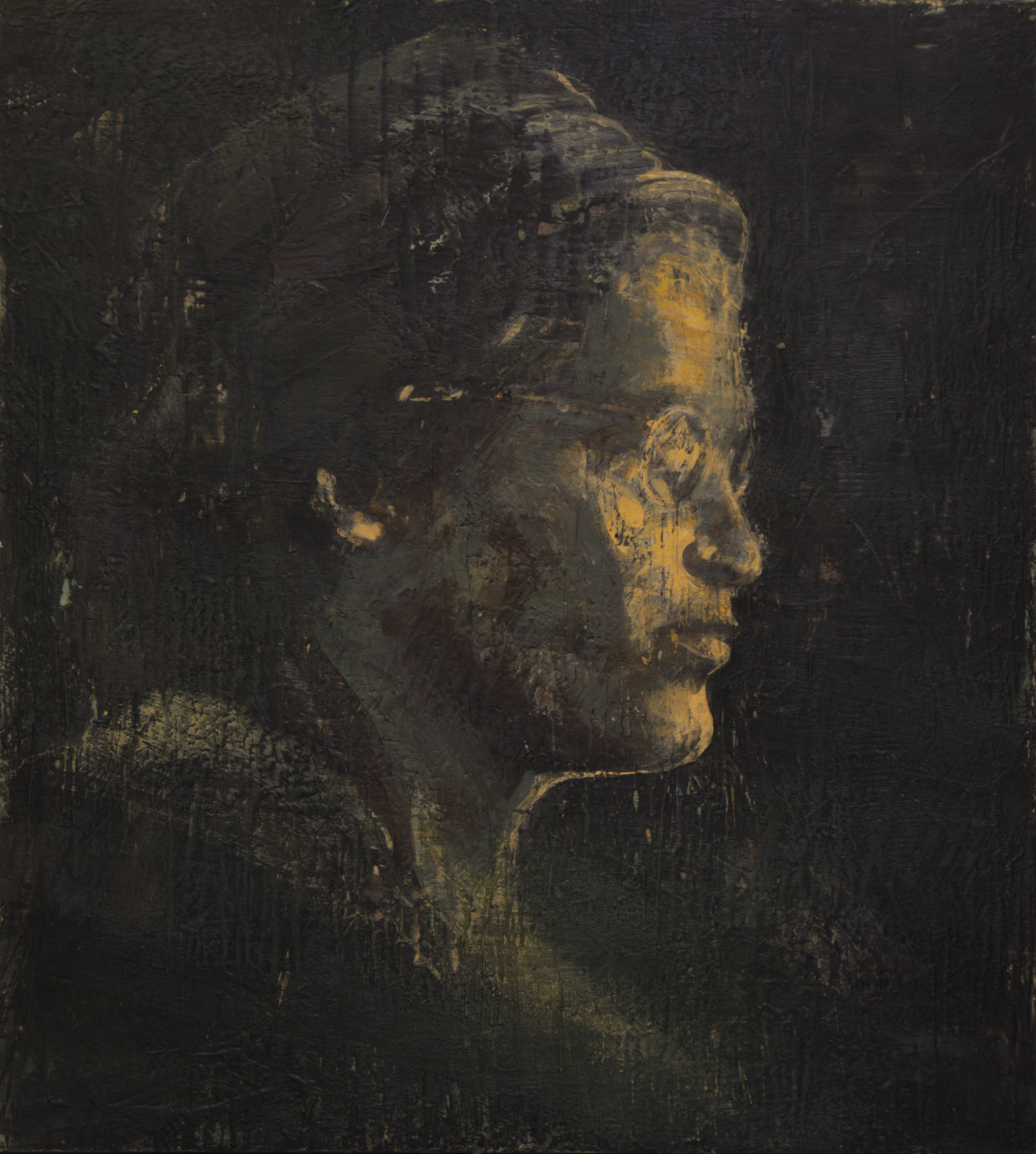 Rosa Parks, 2013-14, encaustic on canvas, 60 x 54 inches
