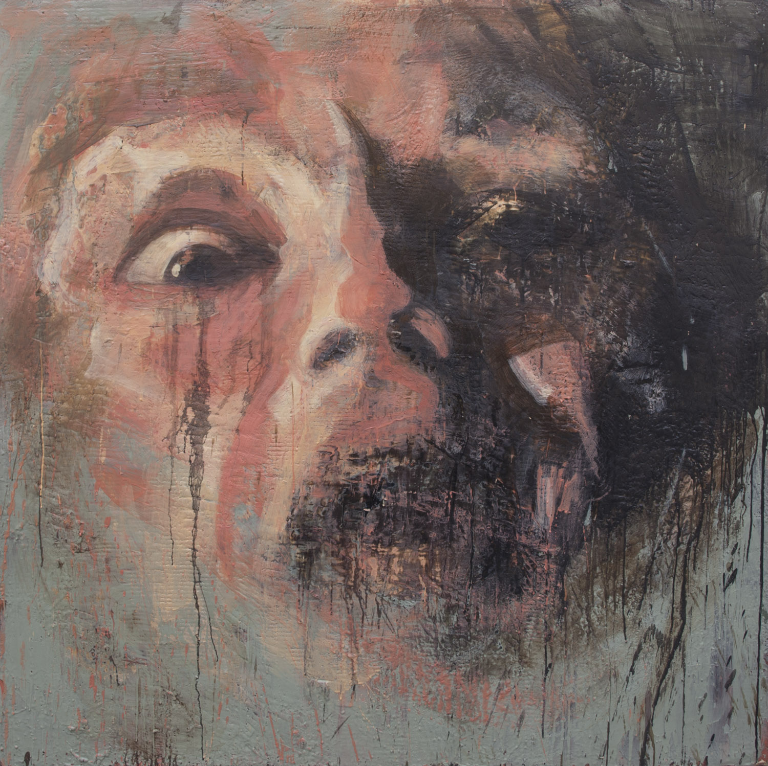 Salem: The Last Witch, 2014, encaustic on canvas, 60 x 60 inches