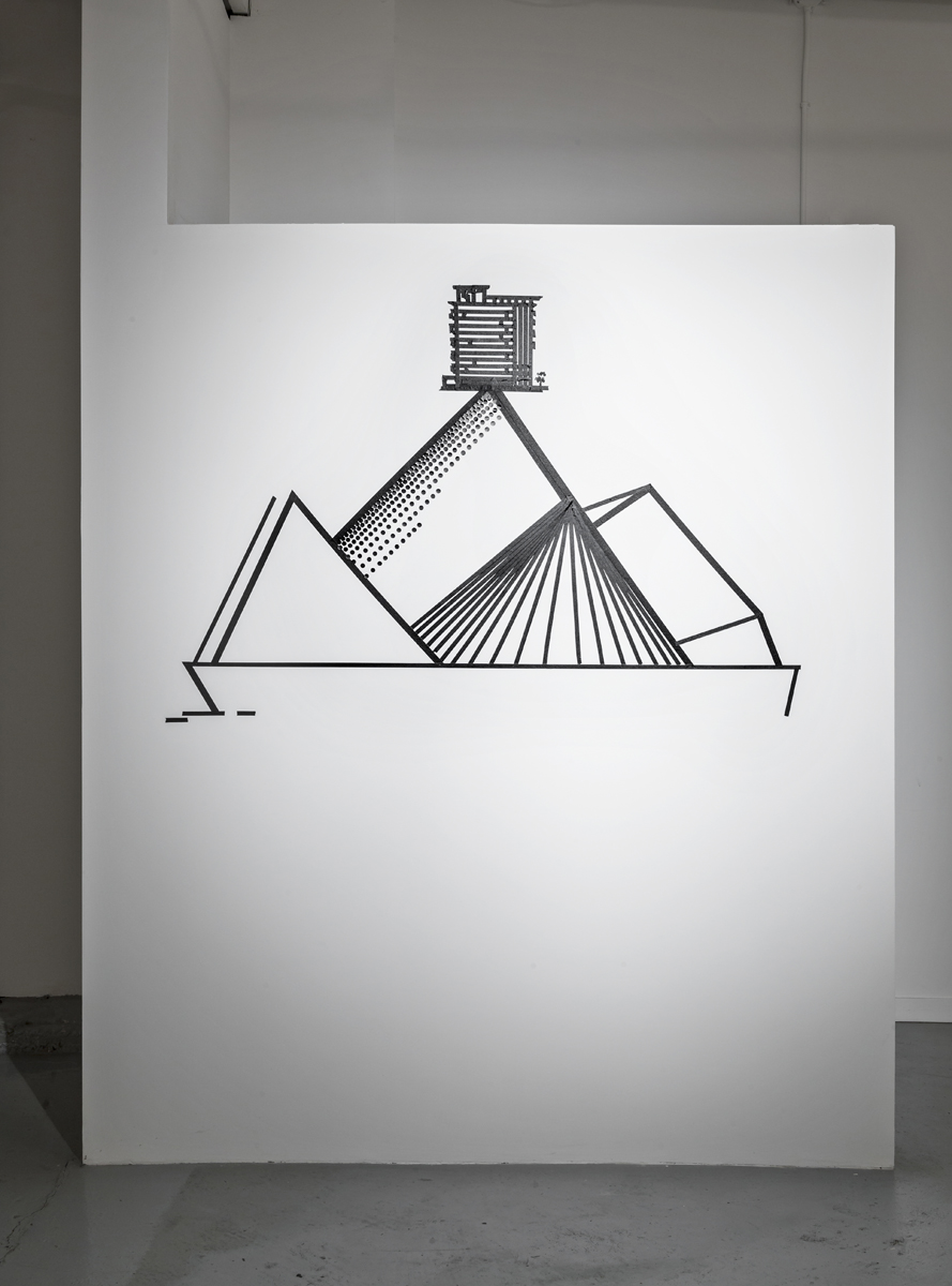Condominium #2,  2014, tape on wall, dimensions variable, (Photo by: Toni Hafkensheid)