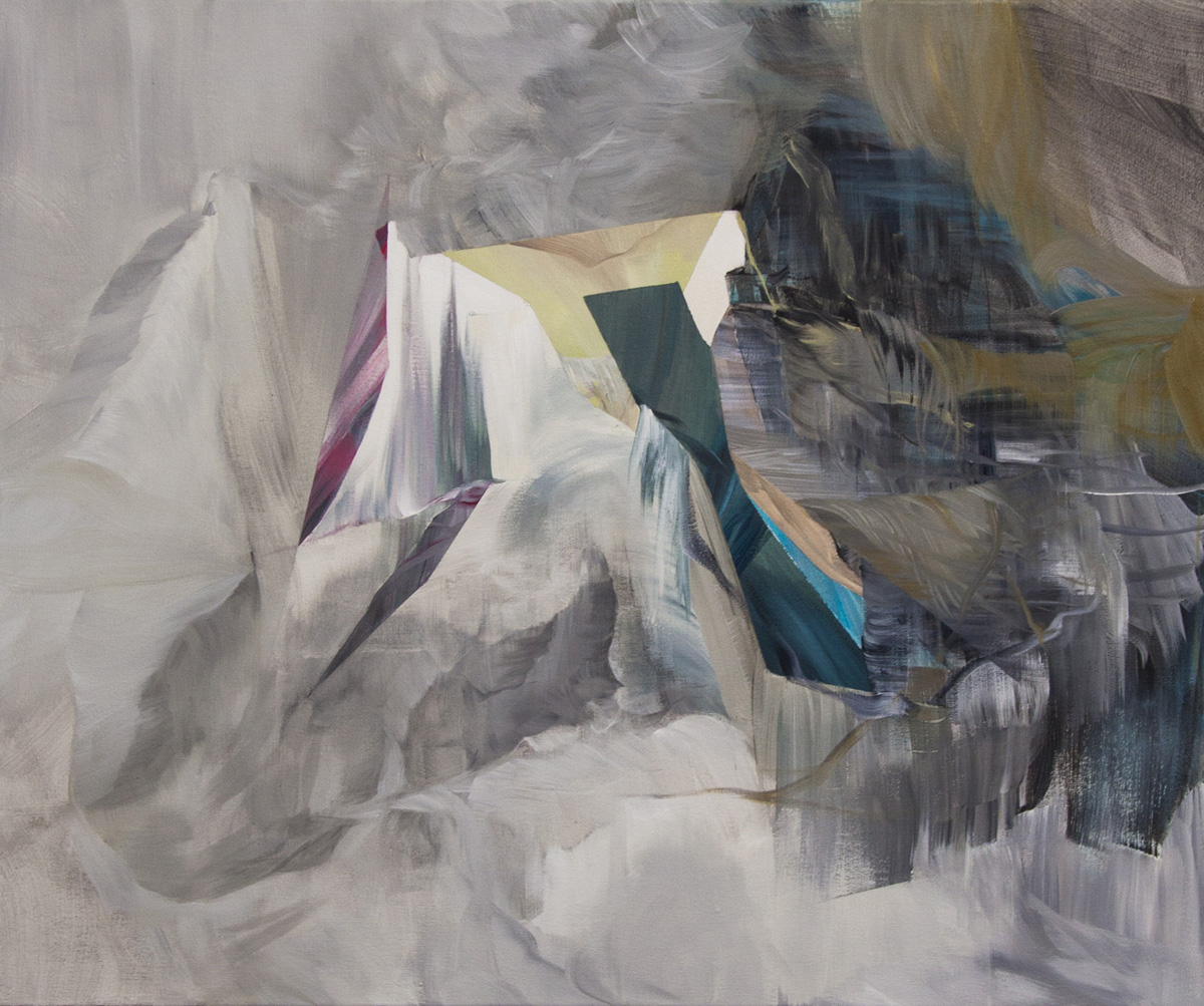 Counterbalance,  2014, 30 x 36 inches, acrylic on canvas, signed, titled, dated: on back