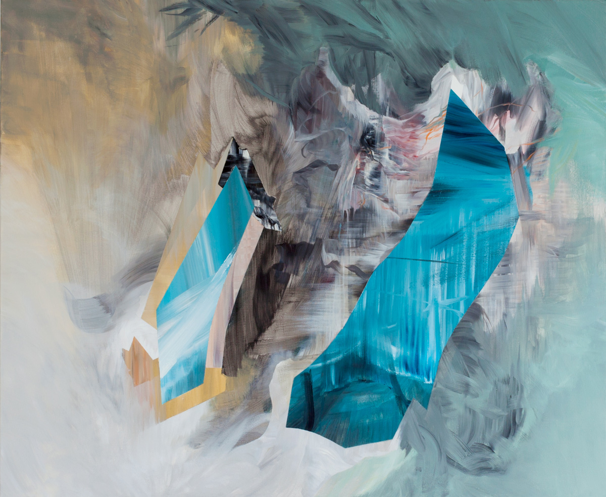 Hybrid , 2014, 60 x 72 inches, acrylic on canvas, signed, titled, dated: on back