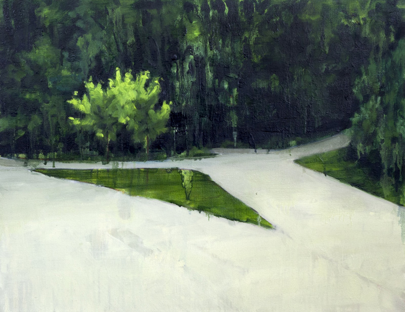 """Forest , 2014, Oil on canvas, 20"""" x 27"""""""