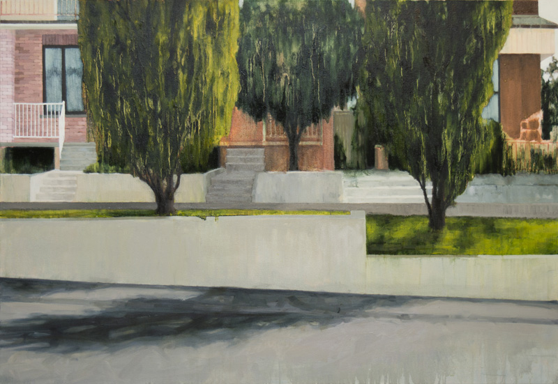 """Boulevard (slower and duller) , 2014, Oil on canvas, 33"""" x 48"""""""