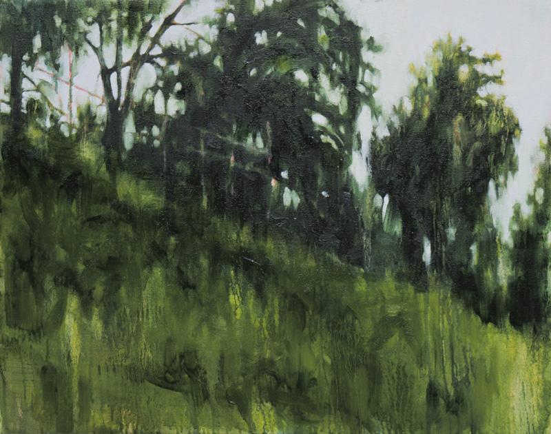 "Landscape (pink) II , 2014, Oil on canvas, 22"" x 28"""