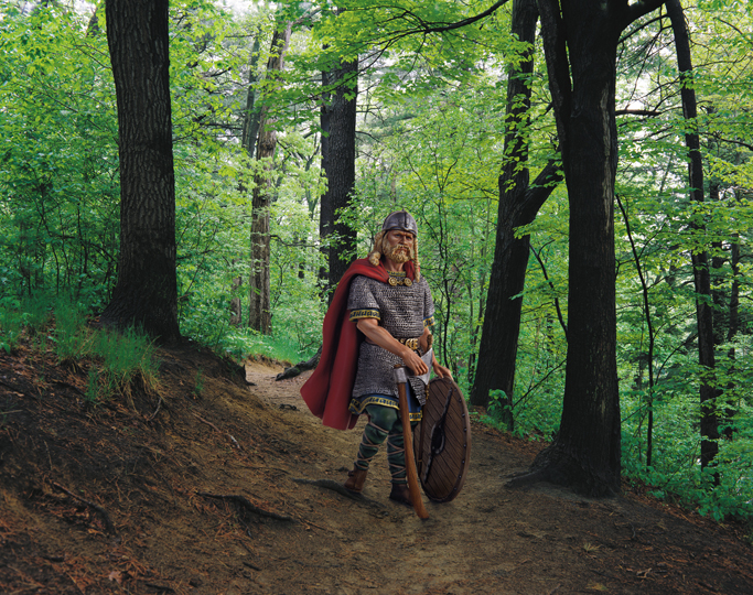 John Massey,  The Viking , 2002, series: Soldiers, 27.5 x 34.75 inches, digital print, edition of 3