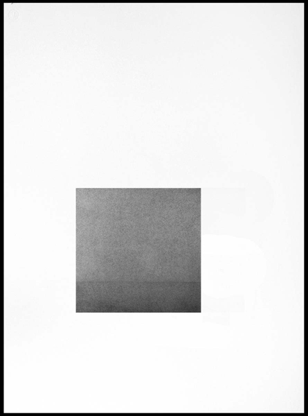 Margaret Priest,  Fog at Sea , 2011, series: House, image: 9 x 9 inches, paper: 30 x 22 inches, framed: 32 x 24 inches, graphite on handmade paper