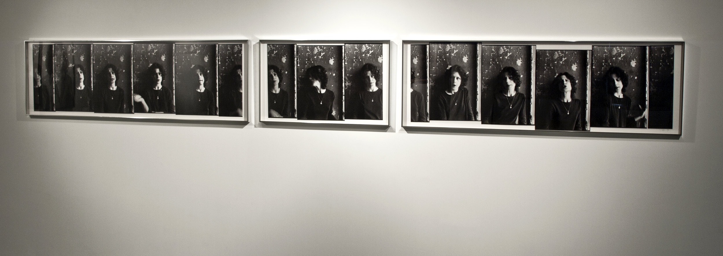 Something, Nothing Everything, 1978, sequence of 3 panels, approx. 22 x 179 inches, vintage selenium-toned silver gelatin montage