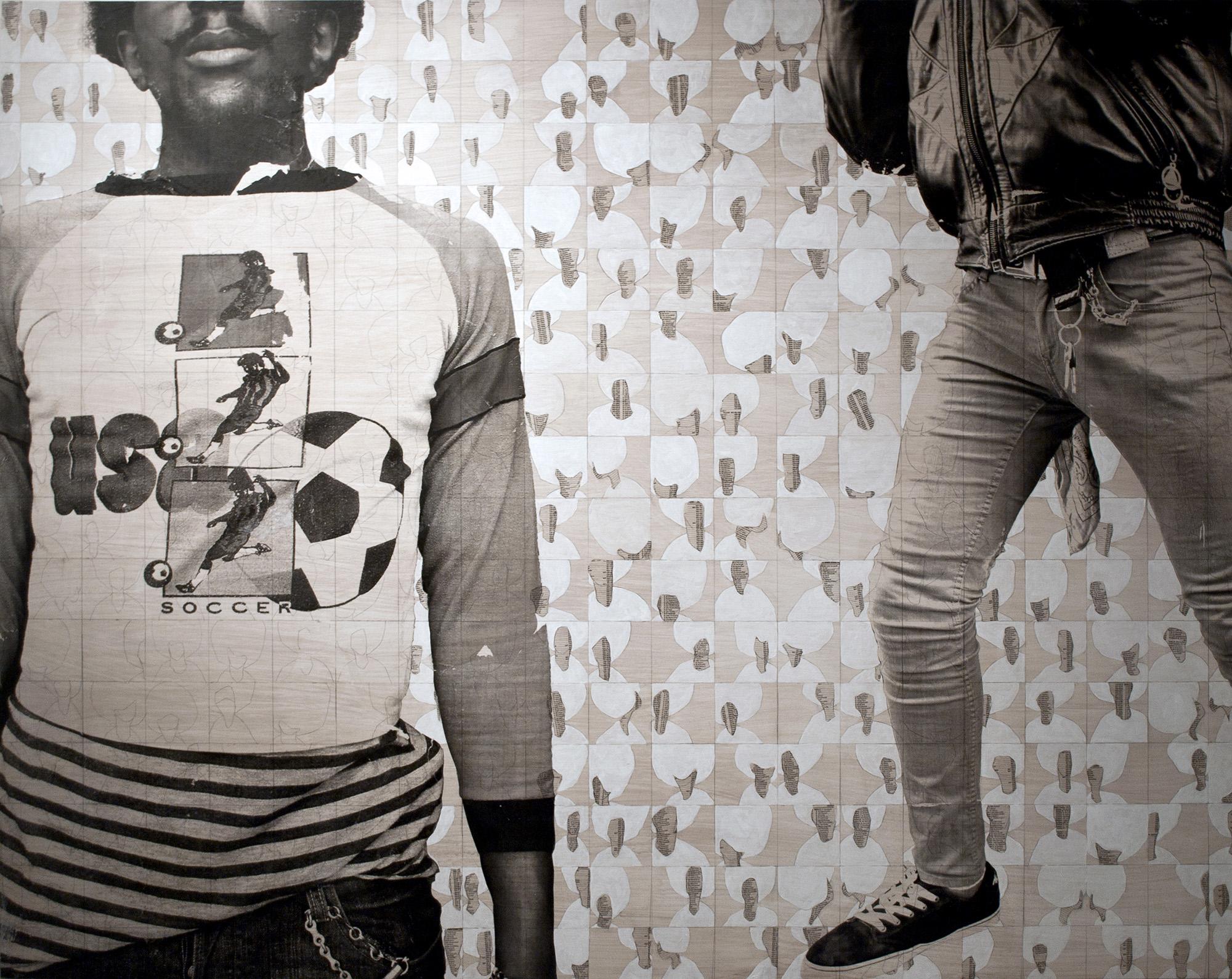 Sandra Brewster, Untitled (Plain Black) , 2011-12, 48 x 60 inches, mixed media