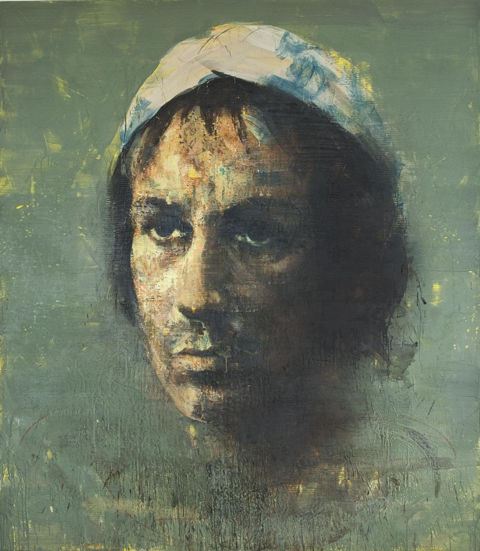 Machiavelli , 2010-11, 84 x 72 in, encaustic, oil pastel on canvas