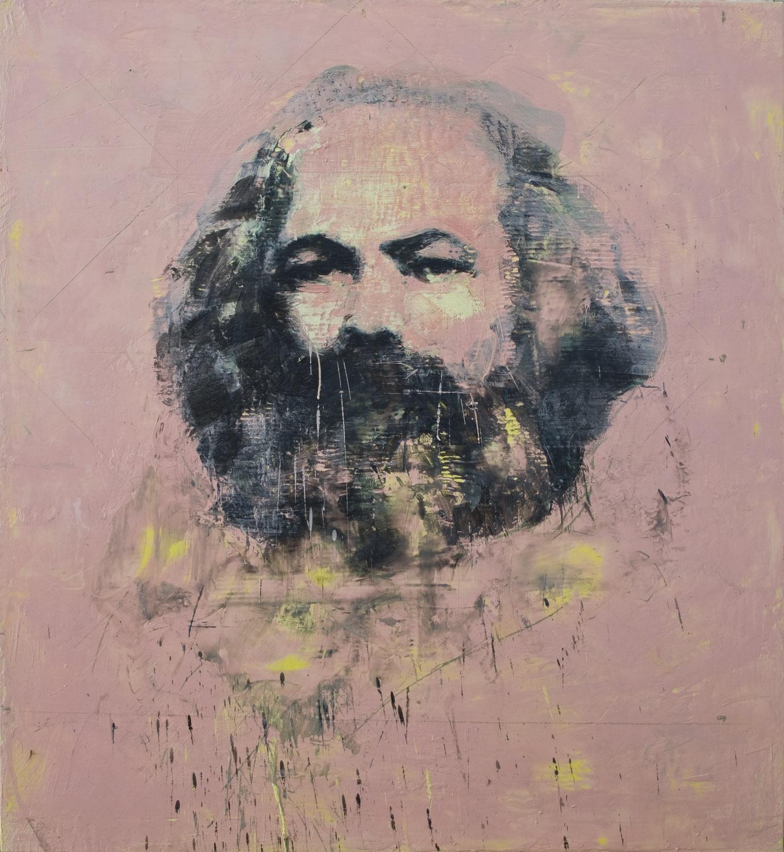 Karl Marx , 2010-11, 60 x 54 in, encaustic on canvas