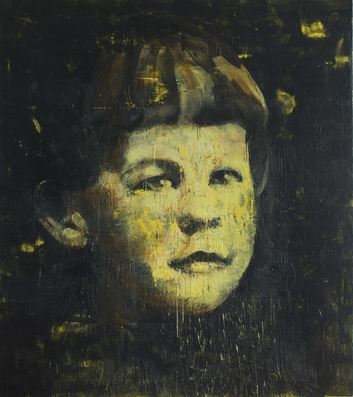 René Lévesque , 2009-11, 96 x 84 in, encaustic on canvas