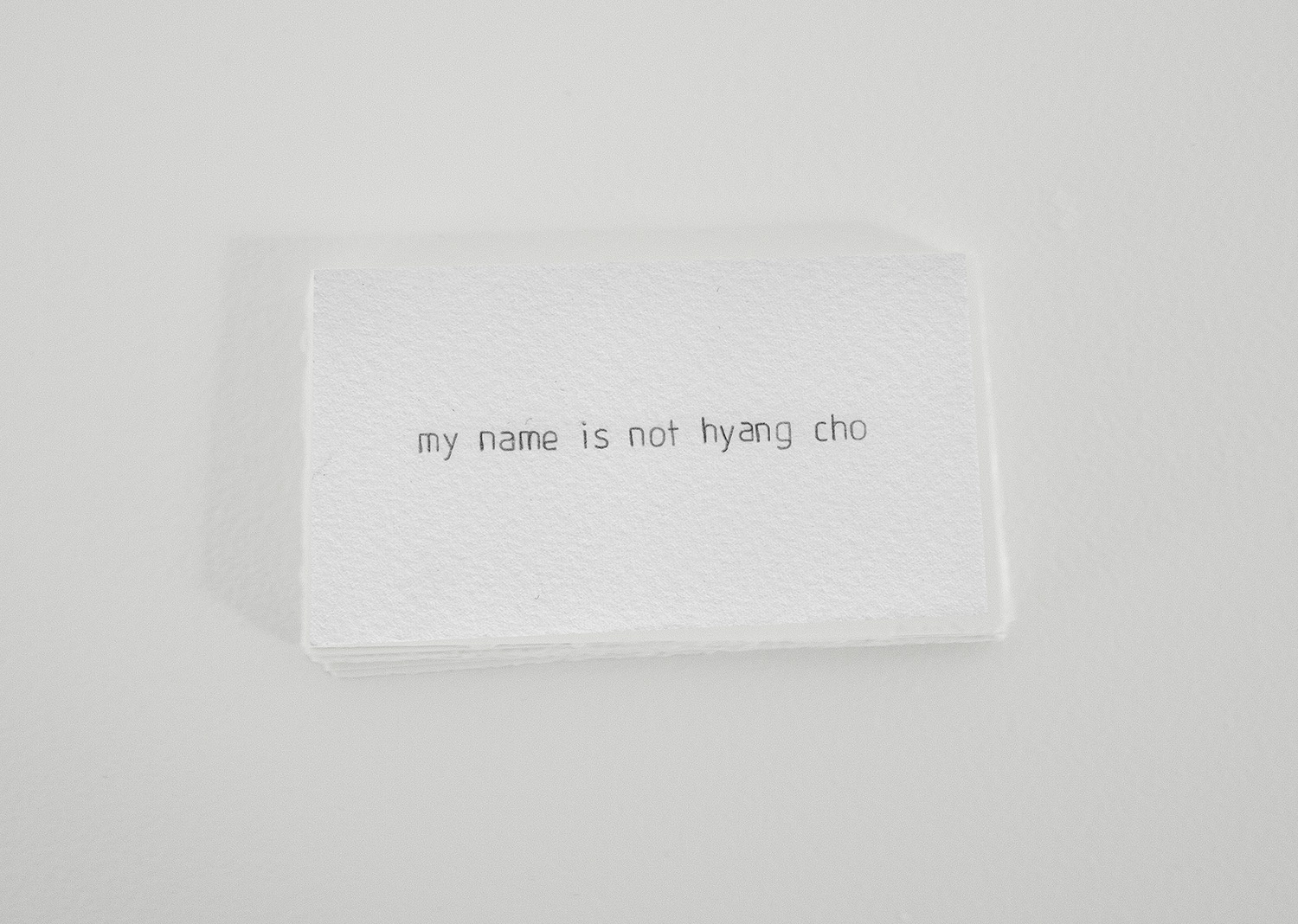 my name is not hyang cho,  2010-11 (ongoing), 2 x 3.5 in, paper, graphite
