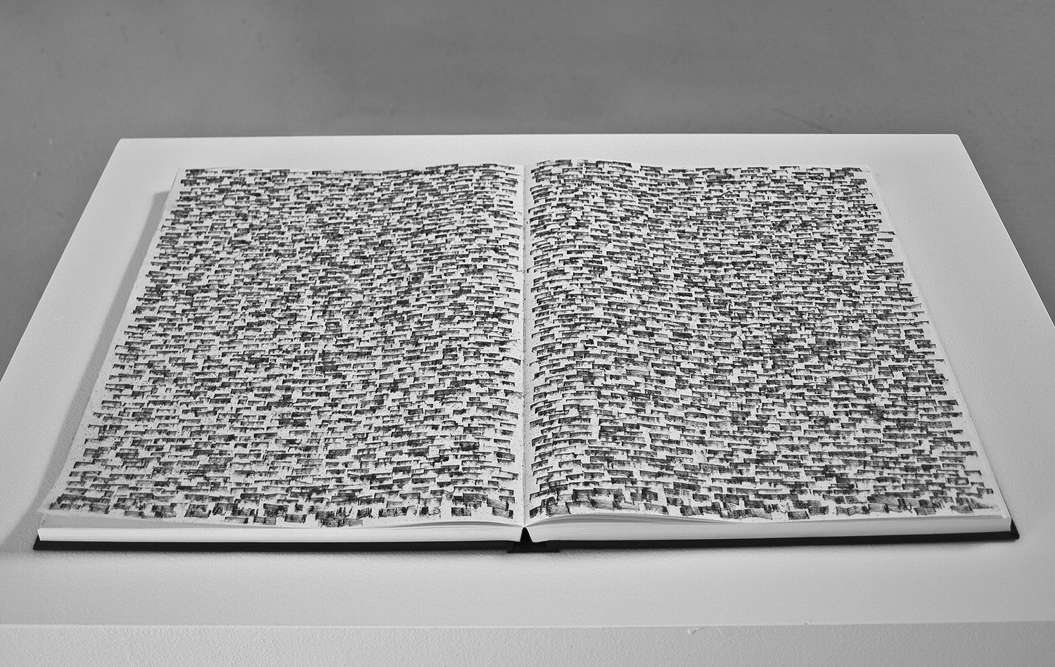 Sketchbook II – The Residue of Writing Ethics,  2010-11, 16 x 24 in (open), sketchbook, graphite