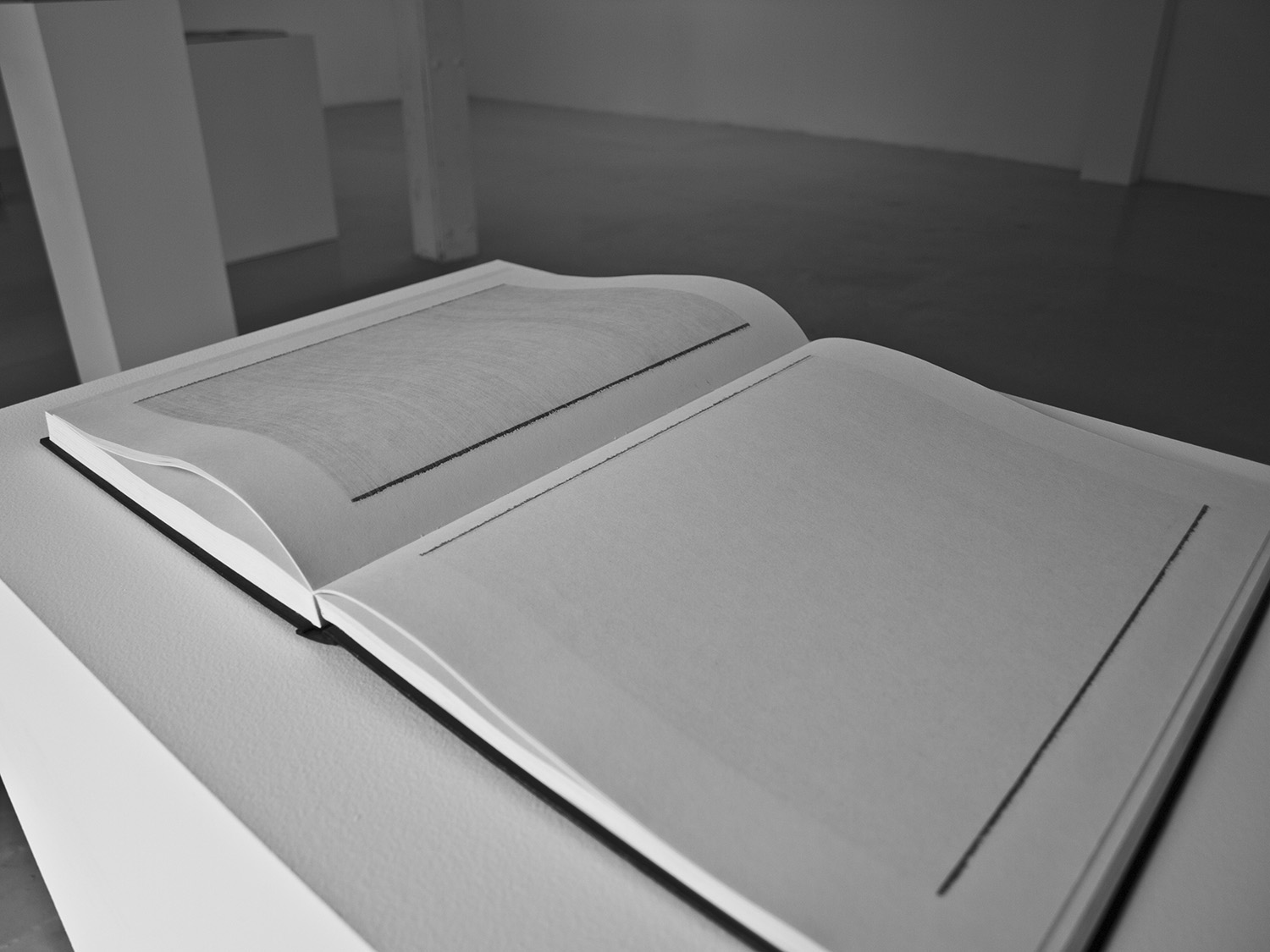 Sketchbook I – Line by Line,  2008-11, 16 x 24 in (open), sketchbook, graphite