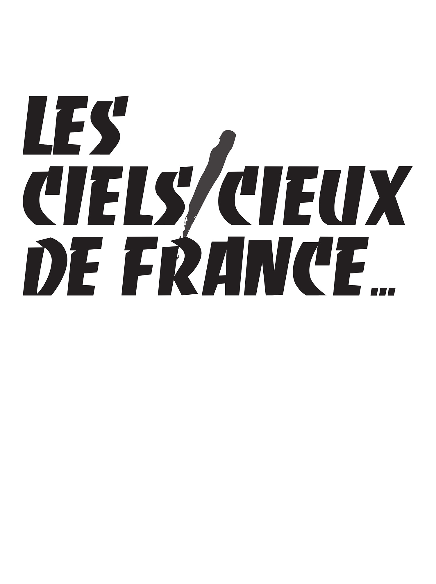 Liam Gillick,  Les Ciels/Cieux de  France, 2010  Gillick's poster relates to Excoffon's work as creative director for Air France. Yet Gillick use of language highlights the dual meaning of 'Ciel' in French as referring to sky or heaven. This lends the work to carry a utopian spirit.