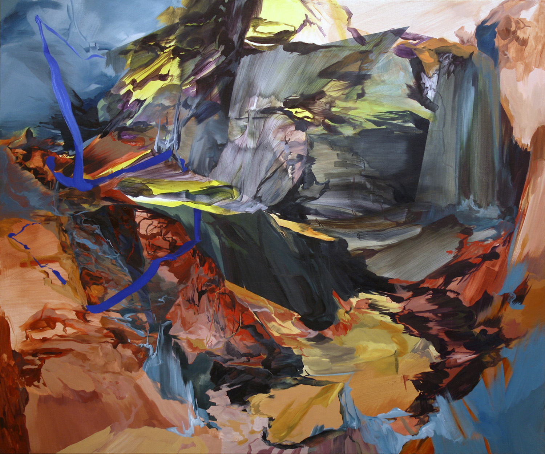 Landlock, 2010, 60x72 inches, acrylic on canvas