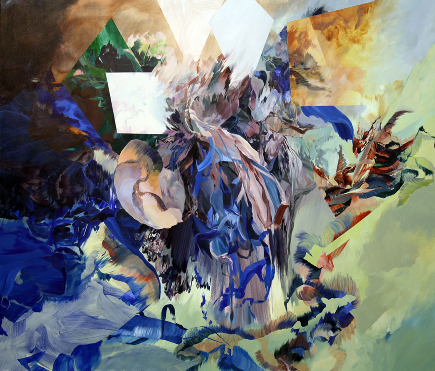 Monster Anthem, 2010, 72x84 inches, acrylic on canvas