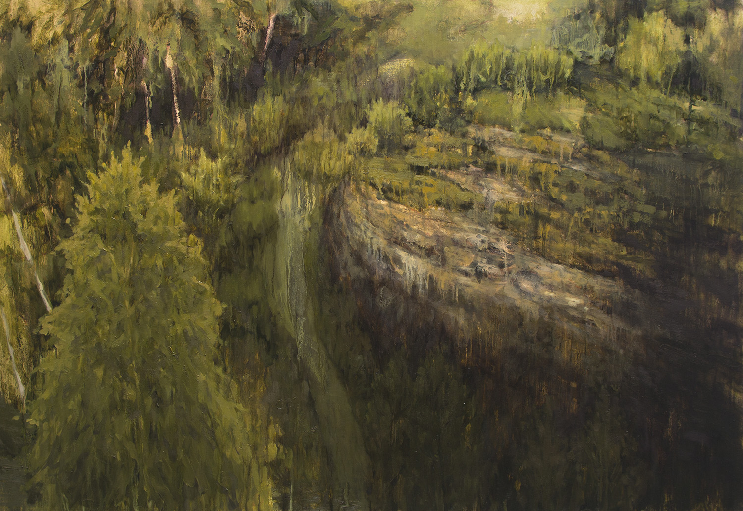 Death by Landscape, 2015, 33 x 48 inches, oil on canvas