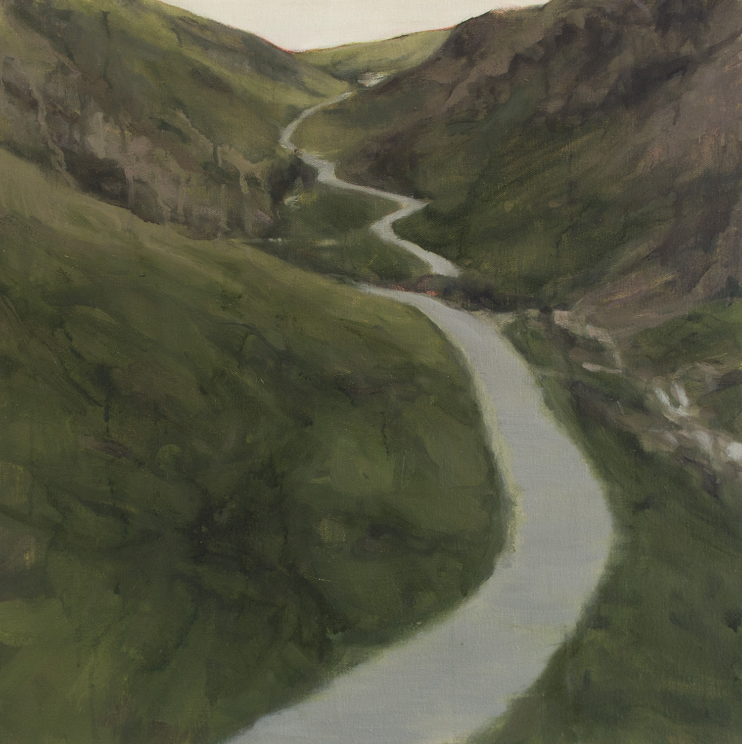 The Road, 2015, 20 x 20 inches, oil on canvas