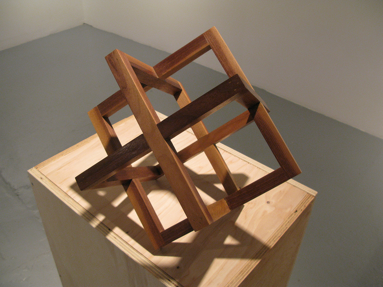Strip Cube (Walnut), 2009, walnut, 12 x 12 x 12 inches, unique edition of 10