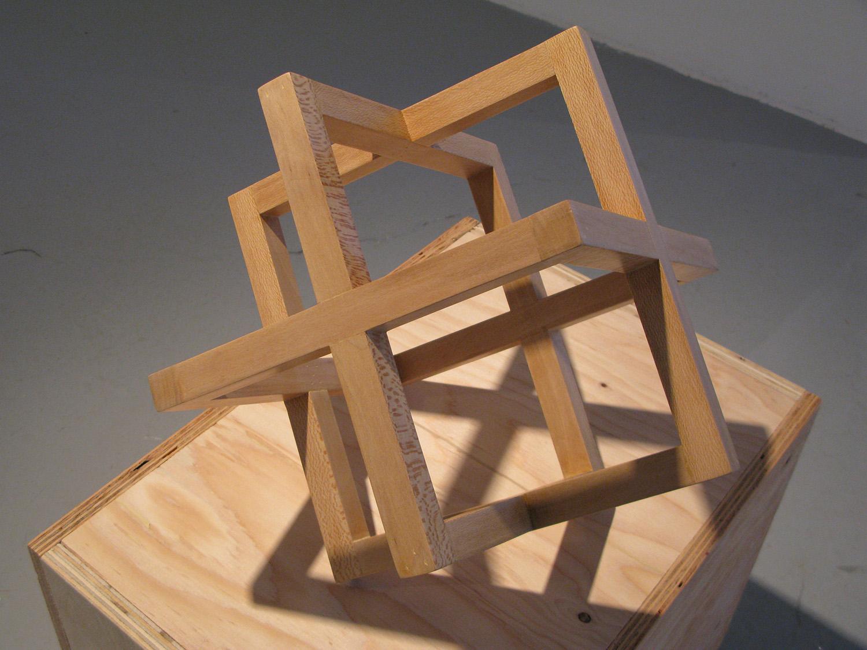 Strip Cube (Sycamore), 2009, sycamore, 12 x 12 x 12 inches, unique edition of 10