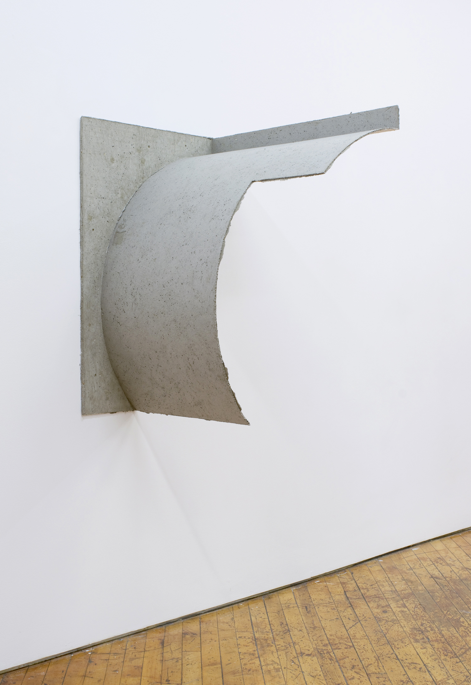 Phano , 2017, 39 x 25 x 33 inches, papier mache, concrete, plywood, gesso