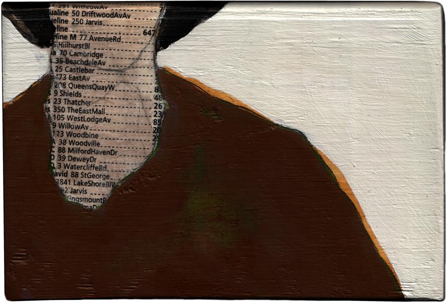 Smith 80 , 2009, 3.2 x 5.5 x 1.5 inches, acrylic, gel transfer on wood