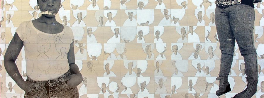 Untitled (Plain Black 2) , 2012, 18 x 48 inches, mixed media on wood