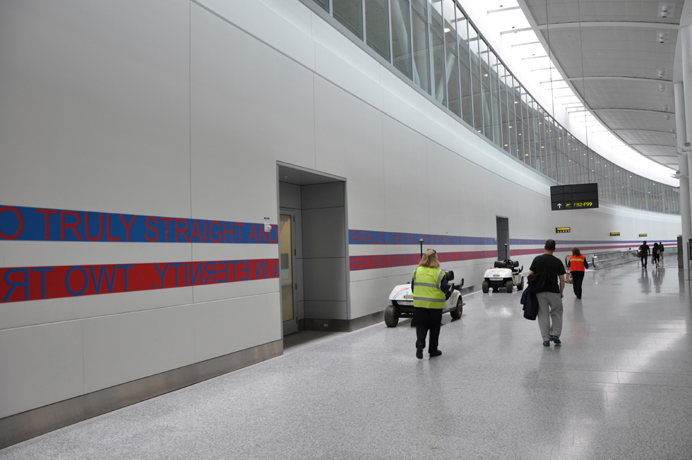 DELIGHTFUL AND PERMANENT CONDITIONS OF IMPOSSIBILITY , 2012, 213.5 m - 700 ft long, Toronto Pearson International Airport, Terminal 1, U.S. Departures, post-security