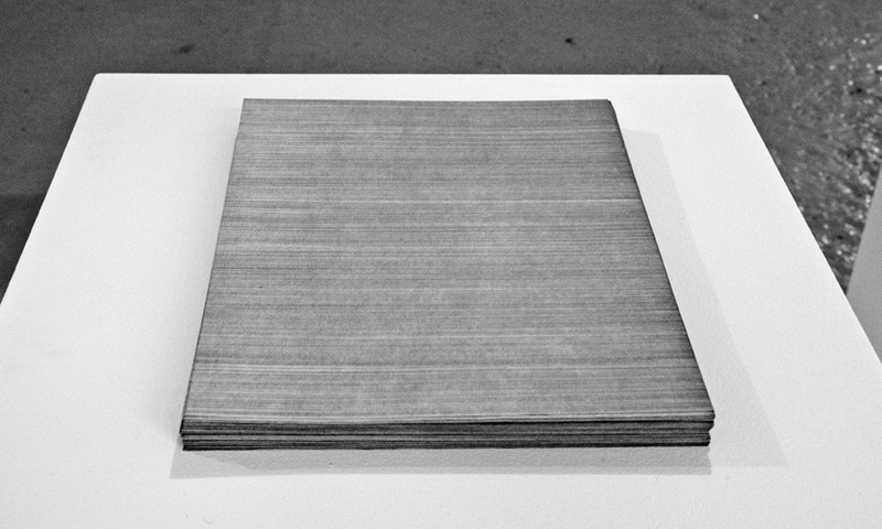 Line By Line I , 2008-11, 1 x 8.5 x 11 inches, 131 sheets of letter size paper, graphite