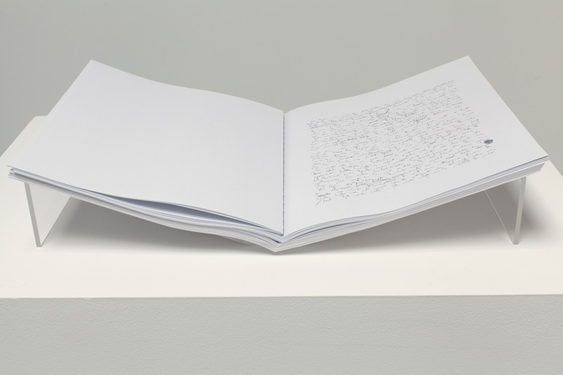 Trial I , 2012, 14 x 22 inches each, 26 sheets of paper, singular multiple