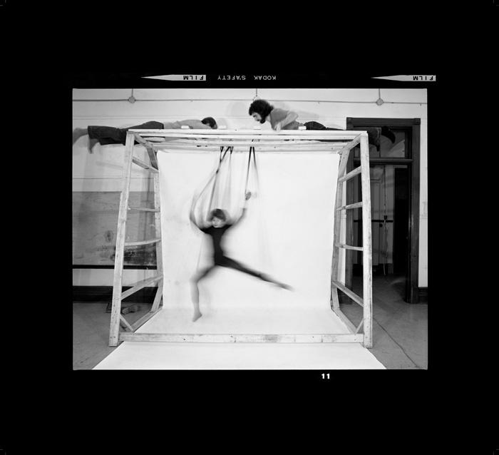 Choreographed Puppet #4 , 1976/2007-2015, series: Choreographies 1970s,  102.2 x 112 cm, chromogenic black and white print