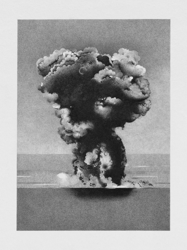 Explosion at Sea 1945 , 2011, 61.75 x 46.5 inches (framed), giclee print from a drawing, edition of 3