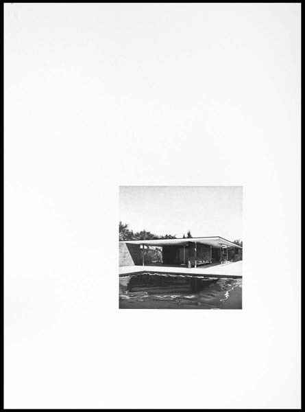 Barcelona Pavilion I,  2008, Image Size: 9 x 9 inches, Paper Size: 30 x 22 inches, graphite on handmade paper