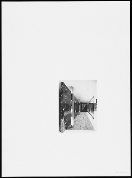 Barcelona Pavilion V,  2011, Image Size: 9 x 6 1/2 inches, Paper Size: 30 x 22 inches, graphite on handmade paper