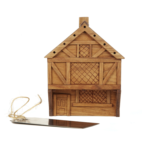 Cherrywood Money Box with Metal Tag