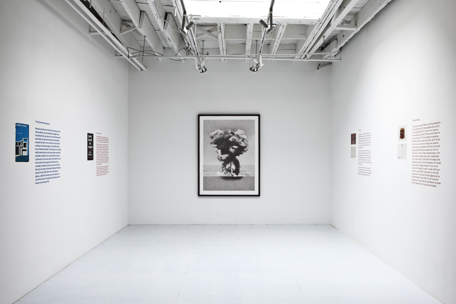 Explosion at Sea 1945 , 2011, 61.75 x 46.5 inches (framed), giclee print from a drawing, edition of 3 (Installation view, Georgia Scherman Projects, Toronto)