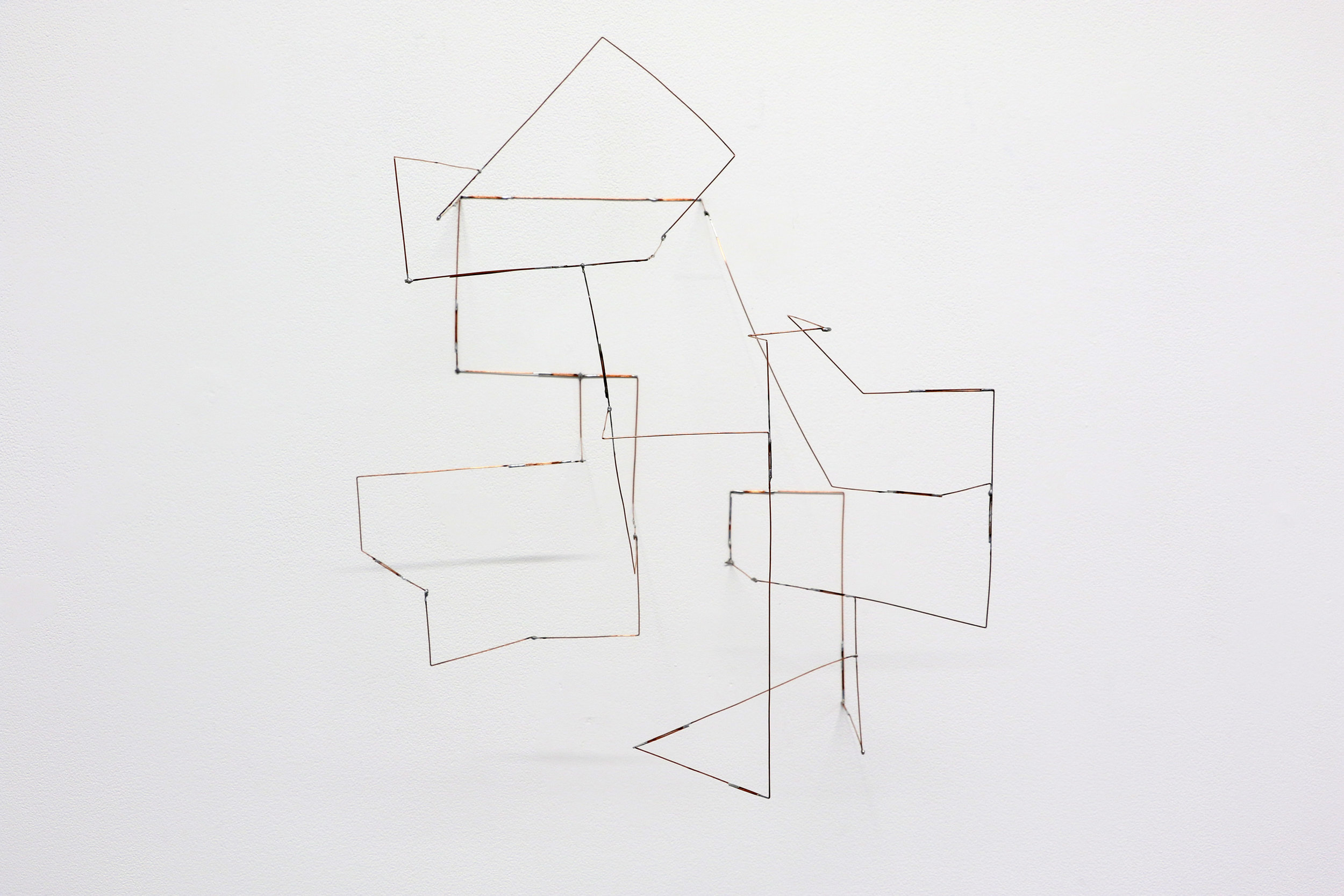 Quindt , 2019, 19 x 16 x 13 inches, soldered copper-coated steel wire
